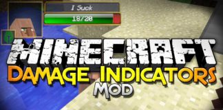 Damage Indicators Mod 1.12.2/1.12.1/1.12/1.11.2 for Minecraft